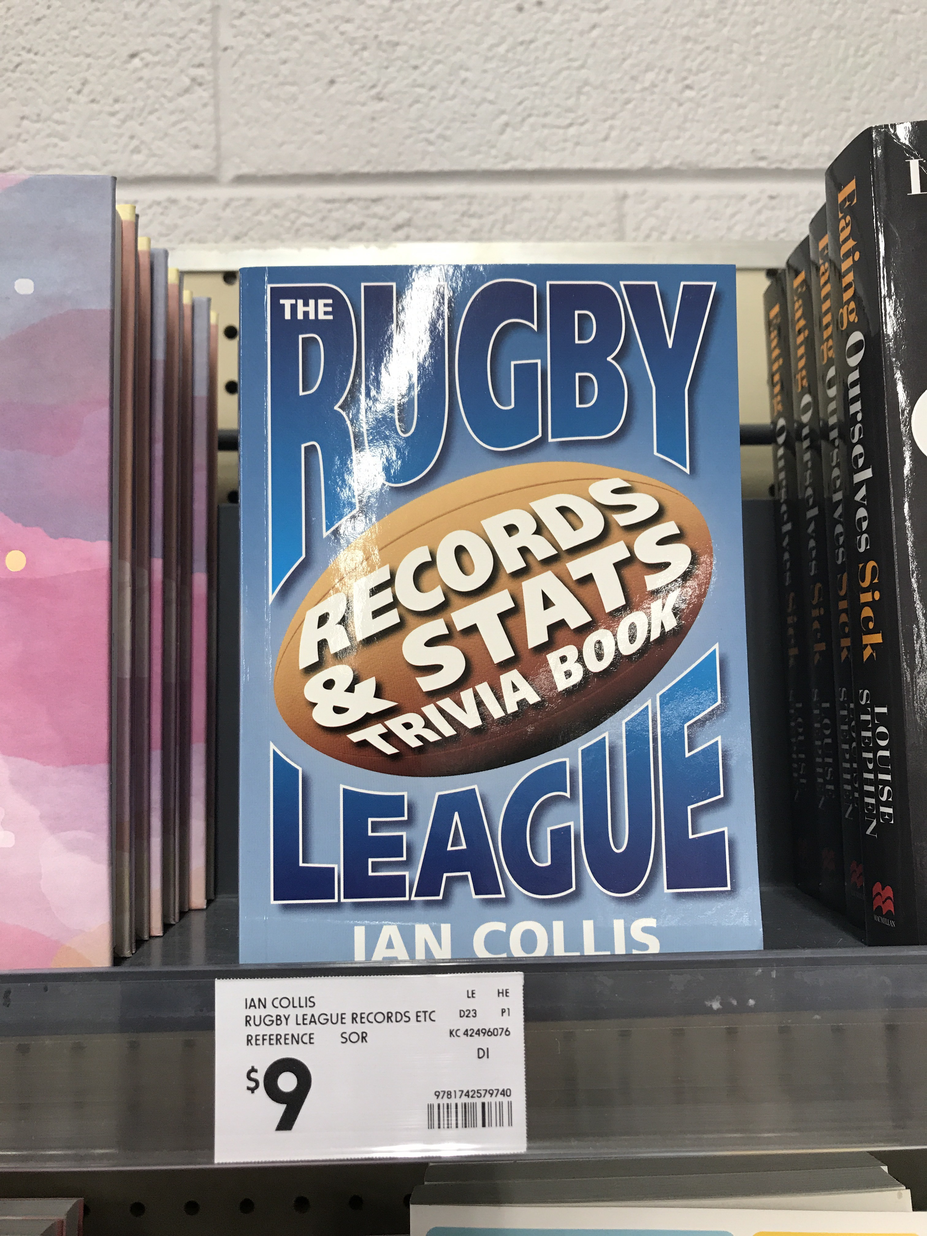 Rugby League Stats And Trivia Book For Sale In Mount Gambier Kmart Not  Expecting A Rush At Any Price